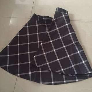 bershka tartan skirt