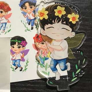 YOON JISUNG Acrylic Fairy Stand ❗less than 5 left❗ + 2x Wanna One stickersheet