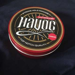 HAVOC Waterbased Hair Styling Pomade (Strawberry)