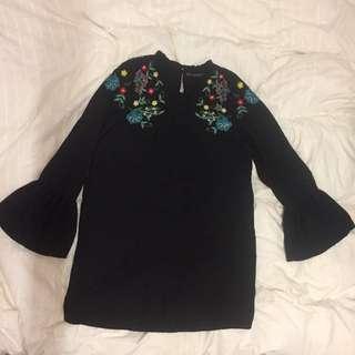 NEW ZARA Frill dress