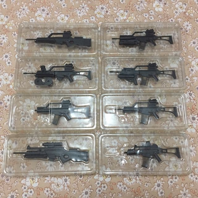1/6 assorted firearms
