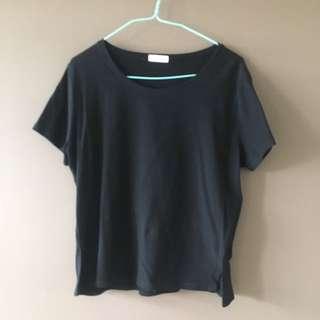 black plain top