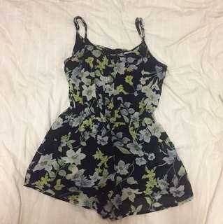 MINK Floral Playsuit