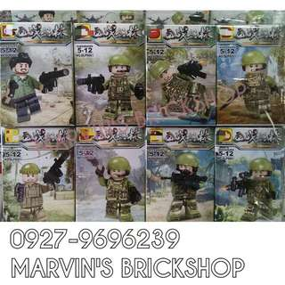 For Sale Military Soldiers 8in1 Minifigures