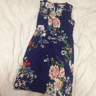 SUNNYGIRL Floral panel dress