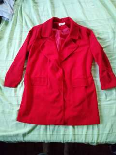Red Trench Coat with lining