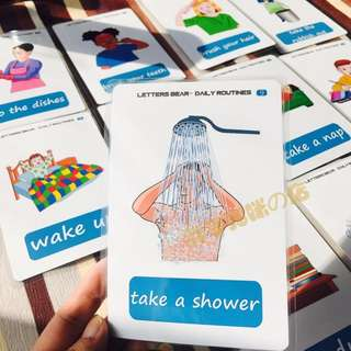 🌈DAILY ROUTINES🌈Flash cards/Right Brain Flashcards/Educational Materials