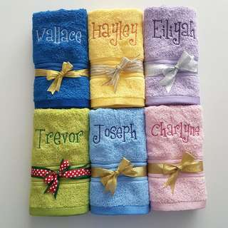 Personalised Jean Perry Hand Towels