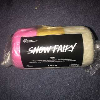 Lush snow fairy squishy putty bath dough
