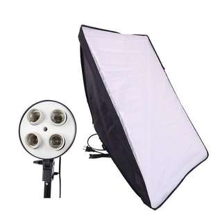 [Sellabrations] Softbox light with 4-socket lightbulb adaptor