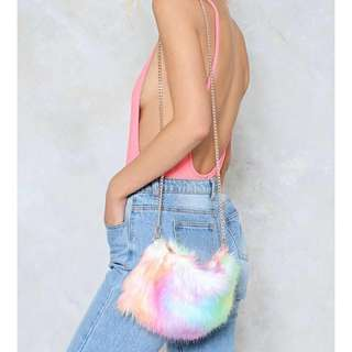 Nasty Gal WANT Strange Magic Faux Fur Bag
