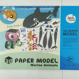 BN 3D-paper model Marine Animals