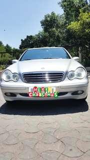 賓士C200K銀色2003年1800cc有渦輪增壓引擎中華賓士總代理幫你圓男人的夢輕鬆擁有百萬名車可全額貸款