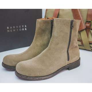 Suede Leather boots, made in italy from barneys new york.