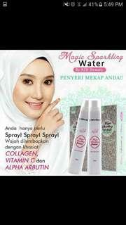 Magic sparkling water / make up setting spray