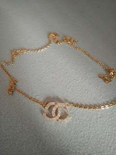 Man-made Diamond Gold Necklace