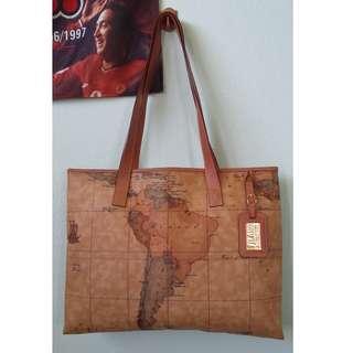 Authentic PRIMA CLASSE ALVIERO MARTINI Tote/Hand Bag Handbag