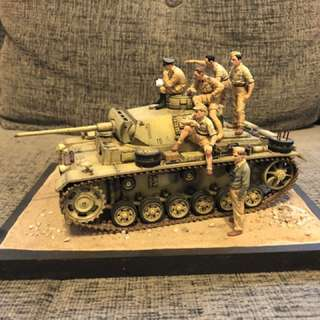 WW2 German Tank Diorama