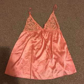Pink boohoo night gown