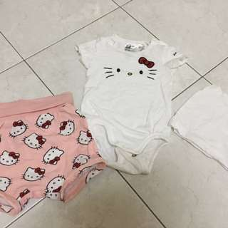 H&M hello kitty clothes set