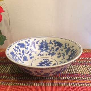 """10"""" Large oriental blue and white Bowl"""