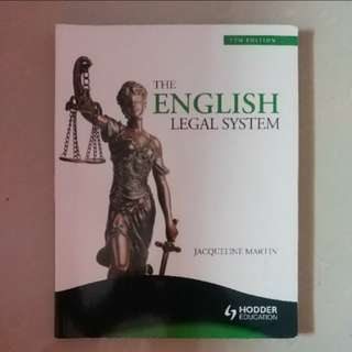 English Legal System by Jacqueline Martin