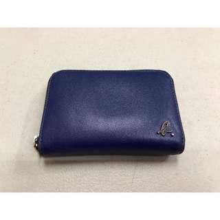 agnes b. 藍 零錢包 零錢袋 女包 禮物 agnesb 小b 拉鍊 短夾