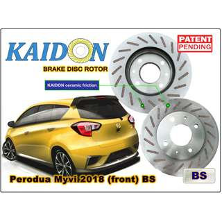"Perodua Myvi 2018 DISC rotor KAIDON(Front) type ""BS"" / ""RS: spec"
