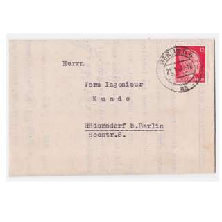 1943 Nazi Germany Business Letter
