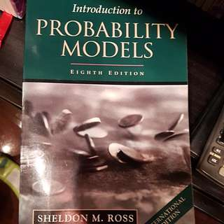 Introduction to probability models book, computing books, comupter science book