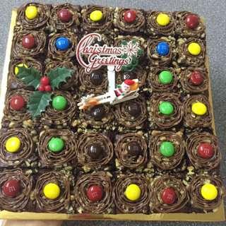 M&m walnut nutella brownies