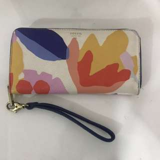 Fossil Zip Clutch Wallet - Floral