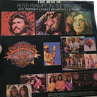 Best of Peter frampton & bee gees vinyl record