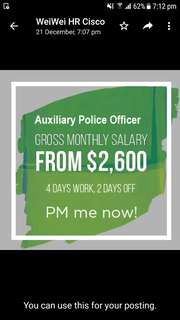 Armed Officers Needed Urgently