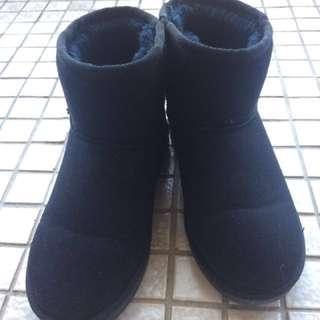 韓國ollie黑色雪靴#五百元好女鞋