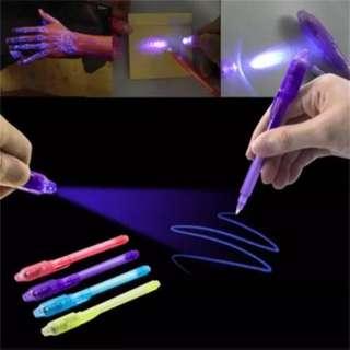 UV Light Pen Invisible Ink Security Marker Pen With Ultra Violet LED Blacklight