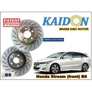 "Honda Stream disc rotor KAIDON(Front) type ""BS"" / ""RS"" spec"