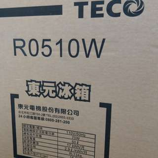 東元0510W電冰箱50L