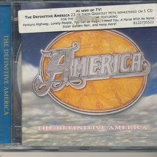 America - The Definitive America (AUDIO CD) [y8]