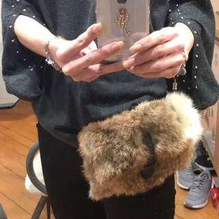 🐰毛腰Bag(Waist Bag with Rabbit Fur Bag)