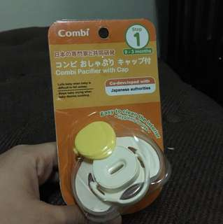 Combo pacifier with cap