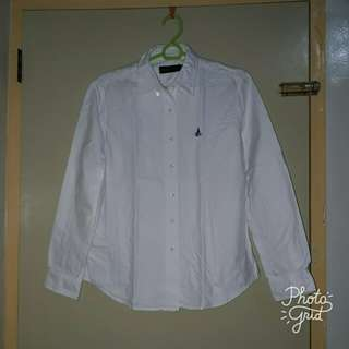 Bean Pole White Polo Shirt