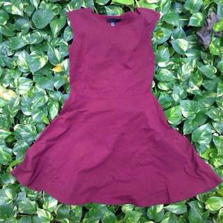 Forever 21 Red Maroon Dress