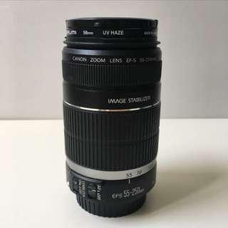 Lens 55-250MM Canon Eos