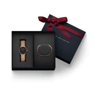 Daniel Wellington Classic Petite Melrose and Sterling with Classic Cuff