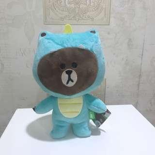 Line熊大變裝系列娃娃玩偶 恐龍