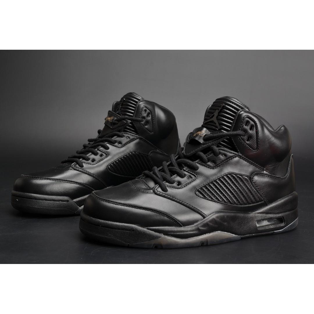 huge discount e4c21 3e694 2018 All Size Air Jordan 5 Retro Triple Black Sneaker Casual Trainer Shoe