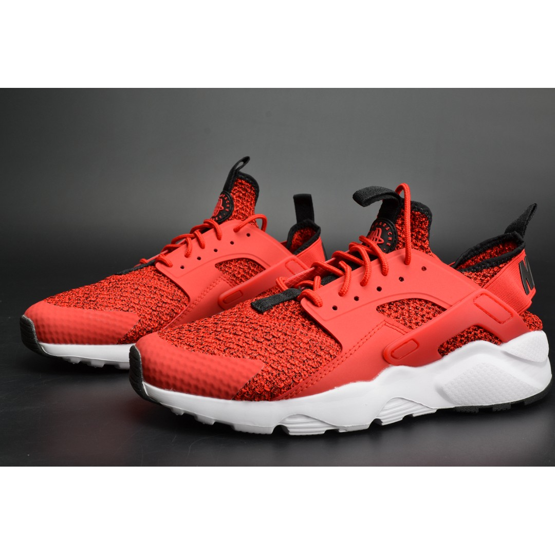 04bbcabf0c24b 2018 All Size Nike Huarache Black Red Sneaker Casual Trainer Shoe ...