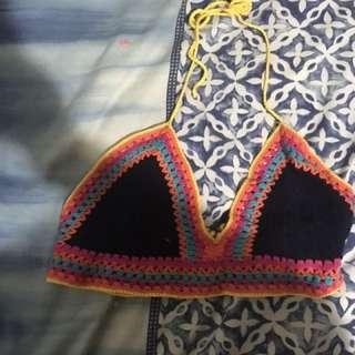 Rainbow knit crop