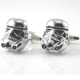 Star Wars Storm Trooper Silver Men's Cufflinks New with Box 星球大戰袖口扣 Free Shipping